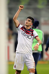February 3, 2019 - Milan, Milan, Italy - Riccardo Orsolini #7 of Bologna FC celebrate a victory at the end of the serie A match between FC Internazionale and Bologna FC at Stadio Giuseppe Meazza on February 3, 2019 in Milan, Italy. (Credit Image: © Giuseppe Cottini/NurPhoto via ZUMA Press)
