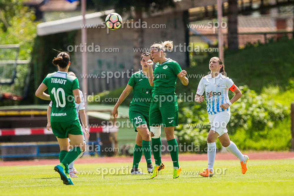 during football match between ZNK Olimpija and FC Zurich Frauen in Champions League Qualifications 2017/18, on August 22, 2017 in Sports park Ljubljana, Ljubljana. Photo by Ziga Zupan / Sportida