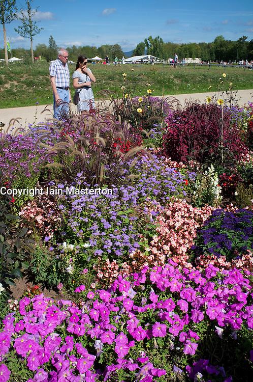 The Federal Horticultural Show or BUGA Bundesgartenschau held in Koblenz Germany 2011