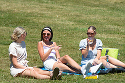 ©Licensed to London News Pictures 24/06/2020<br /> Tunbridge Wells, UK. Young women enjoying the heatwave weather in Dunorlan park, Tunbridge Wells in Kent. Today is the hottest day of the year so far with parts of the UK getting hotter than Ibiza. Photo credit: Grant Falvey/LNP