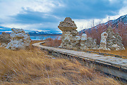 Wooden Boardwalk to Mono Lake California