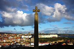 (C) Licensed to London News Pictures. 23/04/2016<br /> Whitby, UK<br /> <br /> Early morning sun shines down on the North Yorkshire coastal town of Whitby. <br /> <br /> Photo Credit: Ian Forsyth/LNP