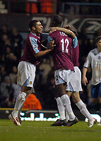 Photo: Olly Greenwood.<br />West Ham United v Brighton & Hove Albion. The FA Cup. 06/01/2007. West Ham's Carlton Cole celebrates scoring with his team mates