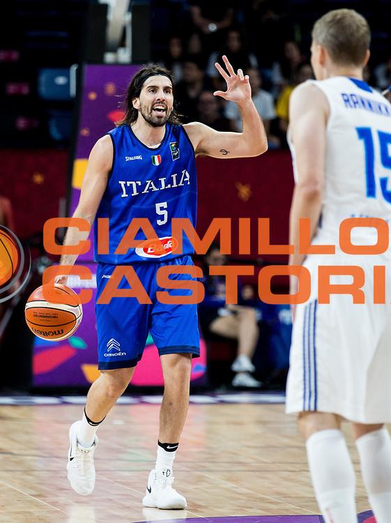 Ariel Filloy<br /> Nazionale Italiana Maschile Senior<br /> Eurobasket 2017 - Final Phase - Round of 16<br /> Finlandia Italia Finland Italy<br /> FIP 2017<br /> Istanbul, 09/09/2017<br /> Foto GiulioCiamillo / Ciamillo - Castoria