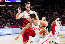 Willy Hernangomez of Spain vs Semih Erden of Turkey during basketball match between National Teams of Spain and Turkey at Day 11 in Round of 16 of the FIBA EuroBasket 2017 at Sinan Erdem Dome in Istanbul, Turkey on September 10, 2017. Photo by Vid Ponikvar / Sportida