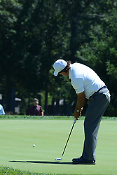 July 8, 2018 - White Sulphur Springs, WV, U.S. - WHITE SULPHUR SPRINGS, WV - JULY 08: Phil Mickelson putts on the 7th green during the final round of the Military Tribute at the Greenbrier in White Sulphur Springs, WV, on July 8, 2018.(Photo by Brian Bishop/Icon Sportswire) (Credit Image: © Brian Bishop/Icon SMI via ZUMA Press)