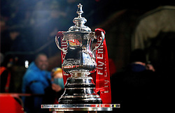 The FA Cup trophy at Lincoln City - Mandatory by-line: Robbie Stephenson/JMP - 17/01/2017 - FOOTBALL - Sincil Bank Stadium - Lincoln, England - Lincoln City v Ipswich Town - Emirates FA Cup third round replay