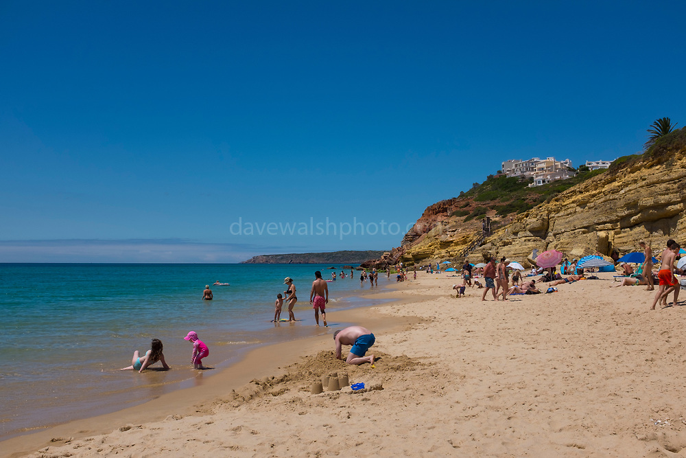 The fishing and holiday village of Salema, Algarve, Portugal