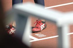 08-08-2006 ATLETIEK: EUROPEES KAMPIOENSSCHAP: GOTHENBORG <br /> Schoenen , spikes Asics, atletiek item startblok 400 meter<br /> ©2006-WWW.FOTOHOOGENDOORN.NL