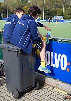 AMSTELVEEN -  Ontspannen naar de wedstrijd toe leven tijdens de DOD (DistrictsOntmoetingsDag) jeugdhockey . COPYRIGHT KOEN SUYK
