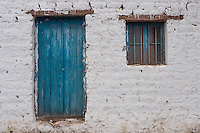Doors and windows of San Pedro de Atacama, Chile
