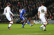 Bertrand Traore of Chelsea scores his sides 5th goal to make it 1-5. The Emirates FA cup, 4th round match, MK Dons v Chelsea at the Stadium MK in Milton Keynes on Sunday 31st January 2016.<br /> pic by John Patrick Fletcher, Andrew Orchard sports photography.