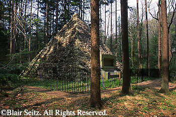 PA Historic Places, James Buchanan Birthplace, Stone Pyramid Landmark, Buchanan's Birthplace State Park, Franklin Co., Pennsylvania