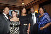 l to r: Adler St. Jean, Jenay Alejandro, Olga Dais, Larry Dais, and Sybil Chester at The 2009 NV Awards: A Salute to Urban Professionals sponsored by Hennessey held at The New York Stock Exchange on February 27, 2009 in New York City. ....