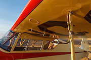 Brass pitot tube on Mathew Northway's Interstate Cadet, NC37369, at Creswell Airport.