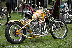 BF11 invited builder McElwee's Bad Luxury custom 1942 Indian Chief at the Born Free set-up day before the big show. Oak Canyon Ranch, Silverado, CA, USA. Friday, June 21, 2019. Photography ©2019 Michael Lichter.CA, USA.