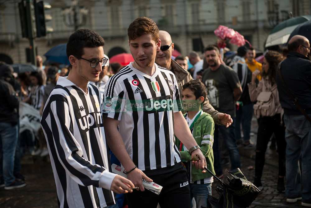 May 19, 2018 - Turin, Piedmont, Italy - Turin, Italy-May 19, 2018: Juventus FC for the victory of the Italian Serie A and Italian Cup (Credit Image: © Stefano Guidi via ZUMA Wire)