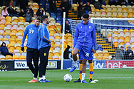 Mansfield Town midfielder Alistair Smith (30) warming up during the EFL Sky Bet League 2 match between Mansfield Town and Grimsby Town FC at the One Call Stadium, Mansfield, England on 4 January 2020.