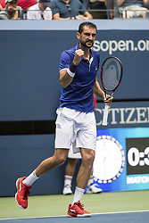 August 28, 2017 - New York, New York, USA - AUG 28, 2017: Marin Cilic (CRO) during the 2017 U.S. Open Tennis Championships at the USTA Billie Jean King National Tennis Center in Flushing, Queens, New York, USA. (Credit Image: © David Lobel/EQ Images via ZUMA Press)