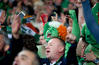 Football - 2017 / 2018 FIFA World Cup Qualifier - Group D: Wales vs. Republic of Ireland<br /> <br /> Irish fans painted green  celebrate victory at Cardiff City Stadium.<br /> <br /> COLORSPORT/WINSTON BYNORTH