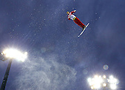 Ilya Burov of Russia skis during qualification for men's aerials at Rosa Khutor Extreme Park during the Winter Olympics in Sochi, Russia, Monday, Feb. 17, 2014. (Brian Cassella/Chicago Tribune/MCT)