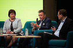 Natalie Jaresko, Former Ukrainian Finance Minister and Anders Fogh Rasmussen at the GovTech Summit, at Paris city hall, on November 12, 2018. Photo by Raphaël Lafargue/ABACAPRESS.COM