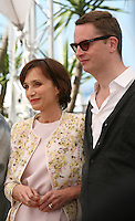 Actress Kristin Scott Thomas and Director Nicolas Winding Refn at the Only God Forgives film photocall Cannes Film Festival on Wednesday 22nd May 2013
