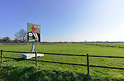 Nederland, Ressen, Bemmel, 9-3-2014 Verkiezingsbord met affiche van het CDA voor de komende gemeenteraadsverkiezingen. Netherlands, election board with posters for the forthcoming local elections. Foto: Flip Franssen/Hollandse Hoogte