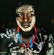 Portrait of Hamer tribesman in Turmi, Lower Omo Valley, Ethiopia