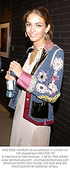 MISS ROSE HANBURY at an exhibtion in London on 16th September 2002.PDF 137