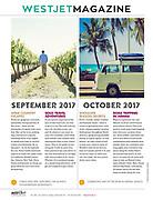 WestJet Magazine spread