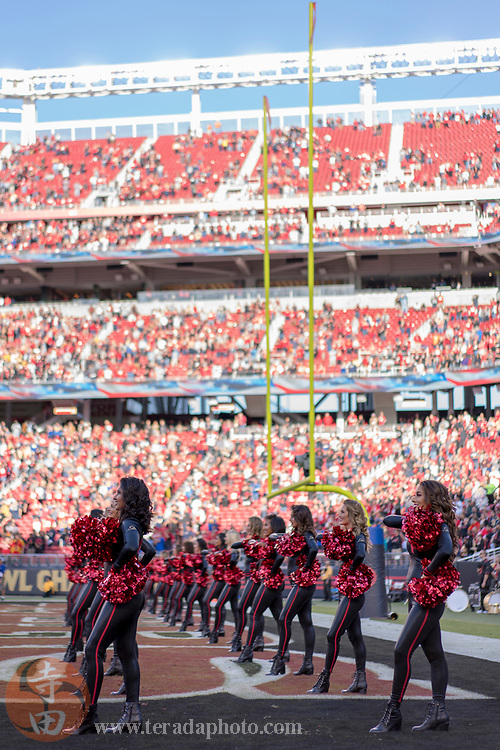September 21, 2017; Santa Clara, CA, USA; San Francisco 49ers Gold Rush cheerleaders before the game against the Los Angeles Rams at Levi's Stadium. The Rams defeated the 49ers 41-39.