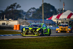 March 15, 2019 - Sebring, UNITED STATES OF AMERICA - 14 AIM VASSER SULLIVAN (USA) LEXUS RC F GT3 GTD RICHARD HEISTAND (USA) JACK HAWKSWORTH (GBR) PHILIPP FROMMENWILER  (Credit Image: © Panoramic via ZUMA Press)