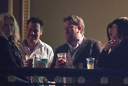 © Licensed to London News Pictures . 14/02/2013 . Manchester , UK . Guy Garvey (3rd from left) in the audience . I Am Kloot perform at the Ritz in Manchester . Photo credit : Joel Goodman/LNP