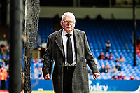 LONDON, ENGLAND - MAY 13: John Motson from BBC  arrived for  the Premier League match between Crystal Palace and West Bromwich Albion at Selhurst Park on May 13, 2018 in London, England. MB Media