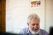 Robert Merrigan - a retired Peace Corps volunteer working for NGO Kham in the office of the organisation located in the city of Delcevo, Macedonia.