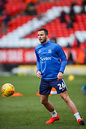 Southend United defender Harry Lennon (26) warms up prior to the EFL Sky Bet League 1 match between Charlton Athletic and Southend United at The Valley, London, England on 9 February 2019.