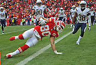 KANSAS CITY, MO - NOVEMBER 24:  of the Kansas City Chiefs of the San Diego Chargers during the second half on November 24, 2013 at Arrowhead Stadium in Kansas City, Missouri. (Photo by Peter G. Aiken/Getty Images) *** Local Caption ***