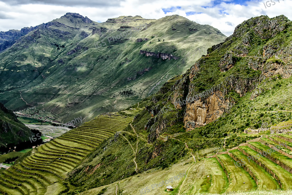 Inca Ruins and agricultural terraces at Pisac