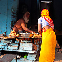 Asia, India, Orchha. Scene of daily life in Orchha village.