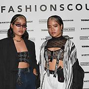 Fa and Fon  - Watkins art director attend Fashion Scout - SS19 - London Fashion Week - Day 2, London, UK. 15 September 2018.