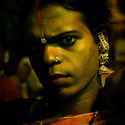 Hijras are members of what is usually considered in India as 'the third sex' - neither man nor women. The hijras usually show up   at weddings and at the birth of male babies, to perform religious ceremonies intended to bring good luck and fertility. These 'ceremonies' involve music, singing, and sexually suggestive dancing, and although the hijras are most often uninvited, the host usually pays the hijras a handsome fee for their 'services'. Many fear the hijras' curse if they are not appeased, bringing bad luck or infertility, but for the fee they receive, they can bless goodwill and fortune on to the newly born or the newly wed couple.