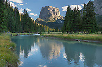 Squaretop Mountain reflected in Green River Bridger Wilderness, Wind River Range Wyoming
