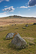 Granite rock used to lead the eye towards King's Tor in the background, with room for copy space at the top.