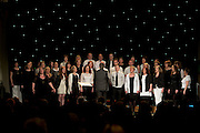 Peter Mannion leads NUI Galway Singers in Choir Factor 2014 in the Radisson blu Hotel, Galway in aid of SCCUL Sanctuary at Kilcuan, Clarinbridge . Photo:Andrew Downes.