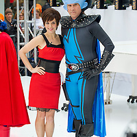 """Tina Fey as Roxanne Ritchie and Will Ferrell as Megamind from the movie """"Megamind"""" during the annual Halloween Episode of NBC's The Today Show in New York City."""