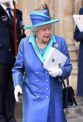 Queen Elizabeth II during the RAF Centenary at Buckingham Palace, London. Photo credit should read: Doug Peters/EMPICS