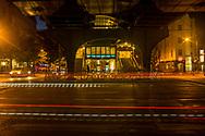 The entrance of U-Bahnhof Eberswalder Straße at night, Berlin 2018.