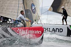 Artemis (SWE) versus Mascalzone Latino (ITA), semi-finals. Auckland, New Zealand, March 19th 2010. Louis Vuitton Trophy  Auckland (8-21 March 2010) © Sander van der Borch / Artemis