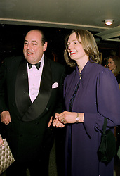 The HON.NICHOLAS & MRS SOAMES friends of the Prince of Wales, at a reception in London on 12th June 1997.LZH 67